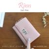 กระเป๋าสตางค์ผู้หญิง ใบสั้น รุ่น RINN สีชมพู