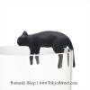 พร้อมส่ง ** Neko เกาะแก้วรูปน้องแมวเหมียวสุดน่ารัก สีดำ (ทานไม่ได้)