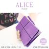 กระเป๋าสตางค์ผู้หญิง ทรงถุง กระเป๋าคลัทช์ สีม่วง รุ่น ALICE