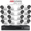 Hikvision 2MP (ชุดสุดโปรโมชั่นกล้อง 16 ตัว) (DS-7216HQHI-F1+DS-16D0T-IR X 16)