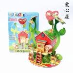 บ้านต้นไม้ Heart Bee Tree House โมเดล 3 มิติ, จิ๊กซอร์ 3มิติ Super model 3D Puzzle