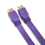 HDMI TO HDMI CABLE 1.5M COLOR FLAT PURPLE