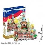 Church of the Savior on Blood 3D Puzzle โบสถ์หยดเลือด กับ วิหารเซนต์ บาเซิล Size 44 x 30 x 54 cm Total 233pcs
