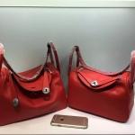 กระเป๋า hermes Lindy 26' Red อะไหล่เงิน