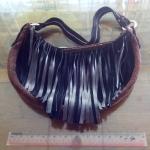 กระเป๋าหนังสะพานข้าง อินเดียนสไตล์ (Handmade)