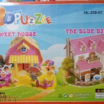 Sweet house the blue bird Super model3D puzzle for Education