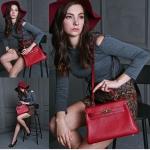 กระเป๋าหนัง kelly red 28cm SALE!!