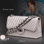 กระเป๋าหนังแกะ รุ่น Lady Classic Silver