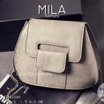 กระเป๋าสะพายข้างผู้หญิง รุ่น MILA สีเทา