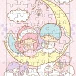 จิ๊กซอว์ซานริโอ Little Twin Stars 54ชิ้น พร้อมถาดรอง ขนาด 36*25.5 ซม.