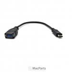 USB-C to Female 3.0 USB Cable Black