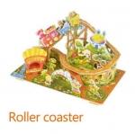 Roller Coaster รถไฟเหาะ 3D Puzzle โมเดล 3มิติ