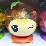 พร้อมส่ง ** เจลลี่รสผลไม้ ในกระปุกออมสินรูปส้ม บรรจุ 825 กรัม