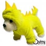 ชุดสุนัข กางกาง ก็อตซิล่า สีเลมอน