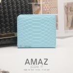กระเป๋าสตางค์ผู้หญิง แบบบาง รุ่น AMAZ SlimII สีฟ้า