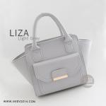 กระเป๋าสะพายข้าง รุ่น LIZA สีเทาอ่อน