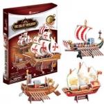 ชุดเรือ The Era of Navigation Ship รวม 4แบบ มินิ 75Pcs.