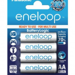 eneloop AA New 2100 Cycle Ni-MH Pre-Charged Rechargeable Batteries, 4/Pack