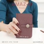 กระเป๋าสตางค์ผู้หญิง ขนาดกลาง รุ่น AMAZ -M สีม่วง
