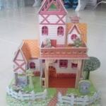 โมเดล 3มิติ จิ๊กซอร์ 3มิติ ชุดตัวต่อกระดาษโฟม Happiness is handmade. Warm Villa