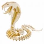 Woodcraft Model ของเล่น 3 มิติ เป็นจิกซอว์ไม้รูปงู ปลอดภัย ไม่เป็นอันตราย