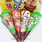 พร้อมส่ง ** Macoco Ice Cream Chocolate ช็อคโกแลตรูปไอศครีมโคน 1 ชิ้น (สินค้ามาเลเซีย)