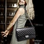 กระเป๋าหนังแกะ ทรง chanel คลาสสิก ( ขนาด 30x20x11cm)