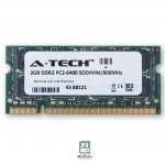 Ram 4GB KIT 800MHZ DDR2 SO-DIMM PC2-6400 (2GBx2) A-TECH