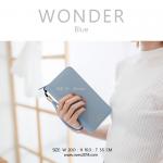 กระเป๋าสตางค์ผู้หญิง รุ่น WONDER สีฟ้า