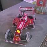 รถแข่ง Ferrari 3D Steric Super Handiwork model size 32*17*12 cm.