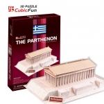 วิหารพาร์เธนอน ขนาด 28*21*10 ซม. The Parthenon C076h 3D Puzzle Cubic Fun