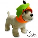 หมวกสุนัข ฟักทอง สีส้ม