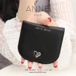 กระเป๋าสตางค์ผู้หญิง แบบบาง รุ่น ANNE สีดำ
