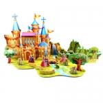 เจ้าชายกบ The Frog Prince Castle House โมเดลตัวต่อกระดาษโฟม จิ๊กซอร์ 3มิติ 3D Puzzle Model