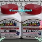 21st Century Health, D-1000 D3 Extra Strength 110 Tablets