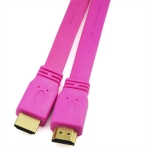 HDMI TO HDMI CABLE 1.5M COLOR FLAT PINK