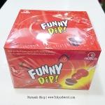 พร้อมส่ง ** Funny Dip Strawberry + Strawberry อมยิ้มดิปช็อคโกแลต รสสตรอเบอร์รี่ล้วน กล่องใหญ่ 24 ชิ้น (สินค้ามีอย.ไทย)