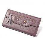 กระเป๋าสตางค์หนังวัว รุ่น Balenciaga (purple)