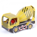 โมเดล 3มิติ ตัวต่อกระดาษโฟม Educational Toys Puzzles mixer truck 3D shop Happiness is handmade