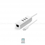 UGREEN USB-C To 3-Port USB 2.0 Hub with Ethernrt