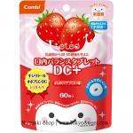พร้อมส่ง ** Combi teteo Oral Balance Tablet DC+ [Strawberry Milk] เม็ดอมป้องกันฟันผุรสนมสตรอว์เบอร์รี่ บรรจุ 60 เม็ด