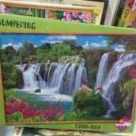 Jigsaw Happines 1200 Pcs. ภาพต่อจิ๊กซอว์ รูปภาพวิว น้ำตก