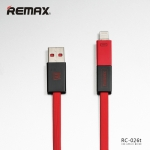 Cable Lightning and Micro to USB Cable 1000 MM RC-030i - REMAX (Black&Red)