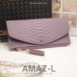 กระเป๋าสตางค์ผู้หญิง AMAZ-L สีม่วง