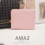 กระเป๋าสตางค์ผู้หญิง แบบบาง รุ่น AMAZ SlimII สีชมพูอ่อน