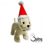 หมวกสุนัข คริสมาสต์ สีแดง