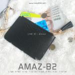 กระเป๋าสตางค์ผู้หญิง ทรงถุง รุ่น AMAZ-B2-L สีดำ