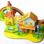 House Puzzle โมเดลตัวต่อกระดาษโฟม จิ๊กซอร์ 3มิติ MODEL 3D PUZZLE