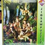 ภาพกินรี จิ๊กซอร์ 500 ชิ้น Numbering Jigsaw Puzzle 500 Pieces Size 53 x 38 cm.