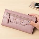 กระเป๋าสตางค์หนังวัว รุ่น Balenciaga (Pink)